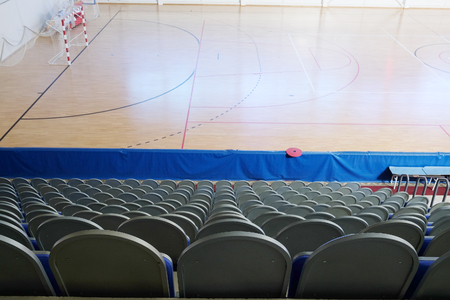 sports shell: The interior of the sports hall