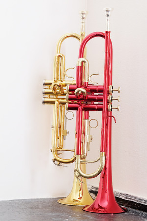 trumpets: classical music wind instrument trumpets