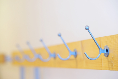 empty: empty hooks for clothes