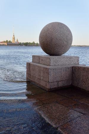 piter: the granite embankment, Saint-Petersburg, Russia