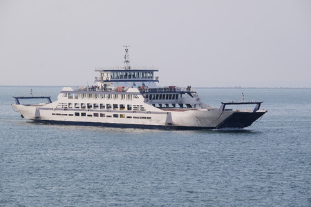 ferryboat: The image of a ferry across the Kerch Strait Stock Photo