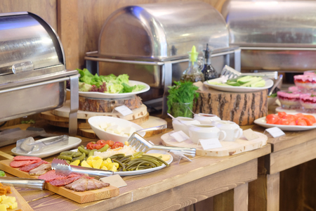 buffet: Buffet style lighter fare Stock Photo