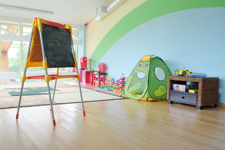 recreation room: games room in the kindergarten Stock Photo
