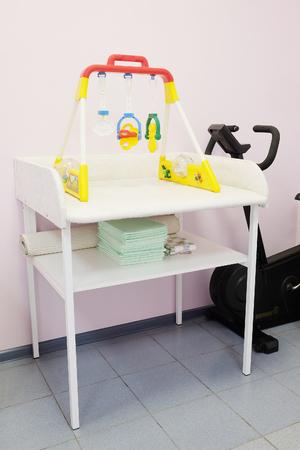 swaddling: Interior of a pediatrician office