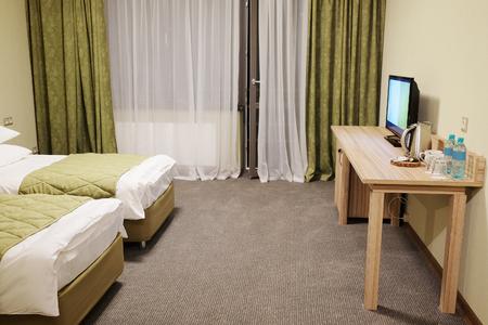 interieur slaapkamer in het hotel Stockfoto