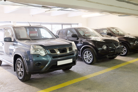 september 2: Tula, Rossia, September, 2, 2015: second-hand cars in dealers showroom. In the conditions of an economic crisis more and more buyers get cars in the secondary market