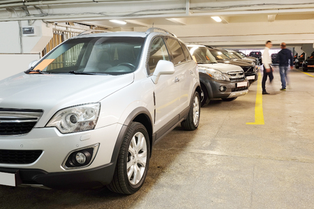 dealers: Tula, Rossia, September, 2, 2015: second-hand cars in dealers showroom. In the conditions of an economic crisis more and more buyers get cars in the secondary market