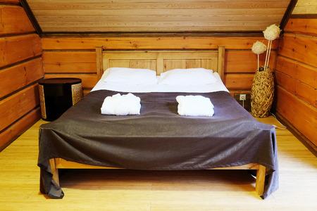 bedsheet: interior bedroom in the hotel Stock Photo