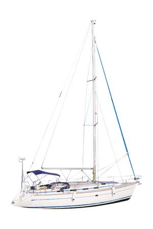 yacht isolated: White yacht isolated under the white background