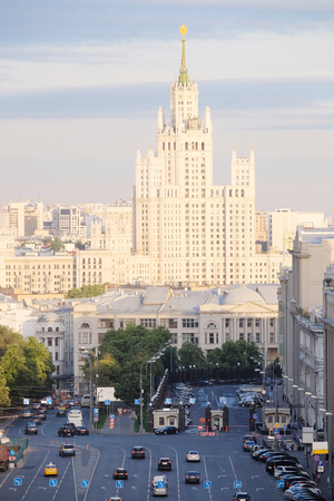 kotelnicheskaya embankment: Moscow, Russia, Juli, 3, 2015: view of the evening Moscow with the high-rise building on Kotelnicheskaya Embankment in Moscow, Russia