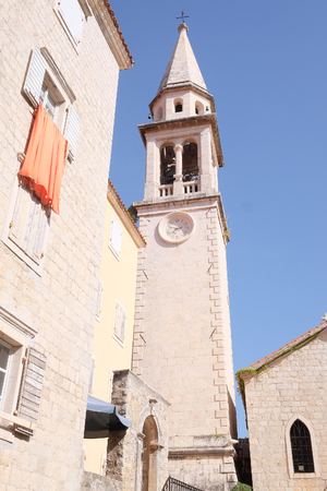 budva: Budva, Montenegro, September, 19: The Old Town of Budva, one of the favorit tourist places of Montenegro