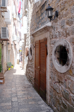 lough: Budva, Montenegro, September, 19: The Old Town of Budva, one of the favorit tourist places of Montenegro
