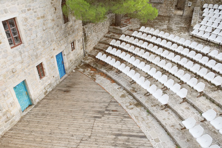 in the open air: open air theatre in Old Bar, Montenegro Stock Photo