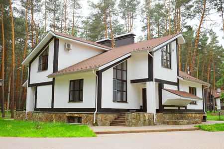 architecture bungalow: The image of log houses