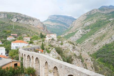 aqueduct: Ancient aqueduct in Old Bar, Montenegro