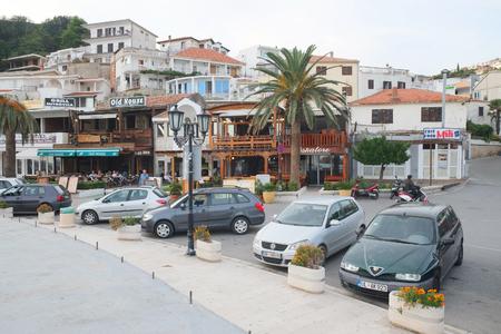 montenegro: street view in Ultsin, Montenegro Editorial
