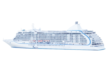 liner: Cruise liner isolated under the white background