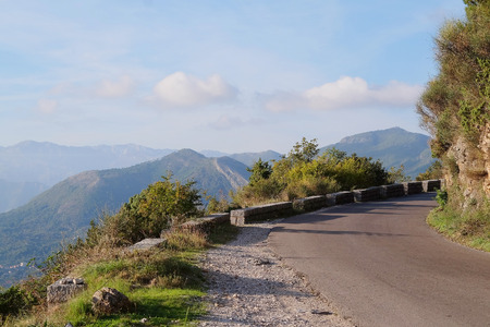 montenegro: Serpentine road in Montenegro Stock Photo
