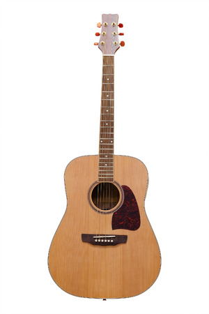 guitarra: Guitarra aislado en el fondo blanco