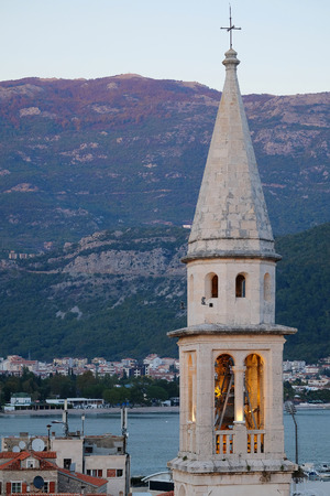 concession: Old town of Budva, Montenegro at a sunset