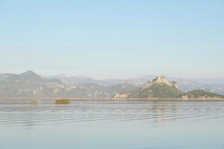 ridge of wave: Landscape with the image of Skadar lake, Montenegro Stock Photo