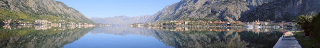 boundless: Landscape with the image of Bay of Kotor, Montenegro Stock Photo