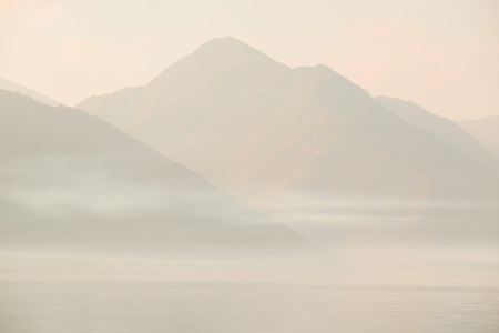 ridge of wave: Mountain landscape with the image of Montenegro
