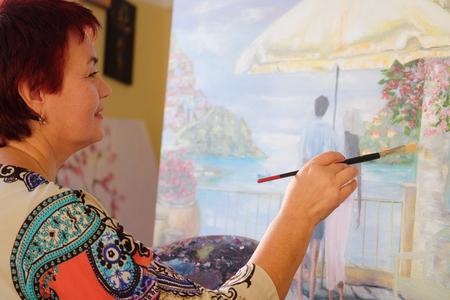 jabot: Portrait of a middle age artist