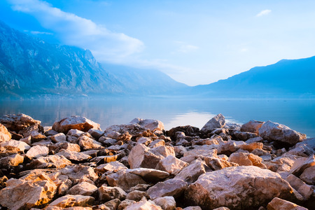 rockclimbing: Landscape with the image of sea and mountains