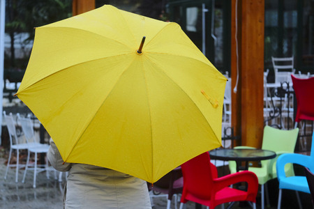 sapiens: The image of a girl with umbrella