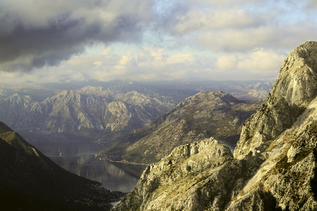 rockclimbing: Landscape with the image of mountains Stock Photo
