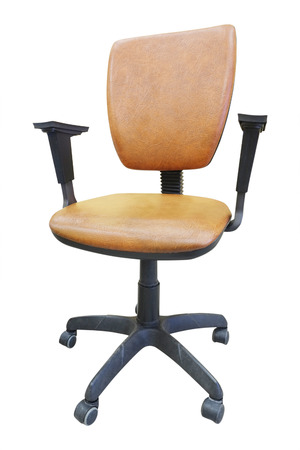 swivel chairs: Office brown chair