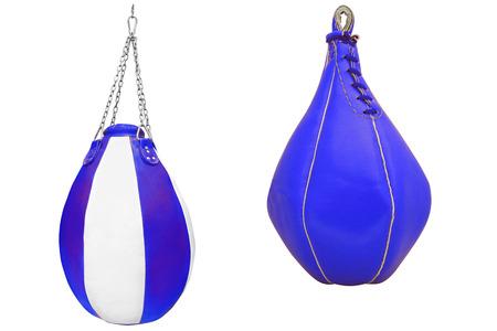 punching: Punching bag isolated under the light background Stock Photo