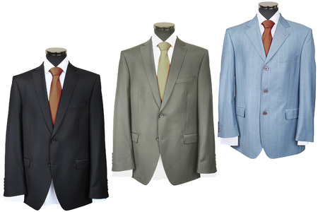 dress suit: coats under the white background