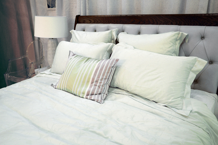 counterpane: The image of a bedroom interior Stock Photo
