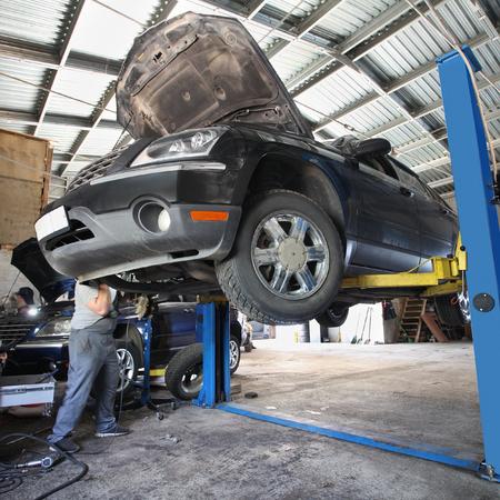 disassemble: The image of car under repair