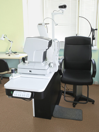 oculist: Interior of a oculist consulting room