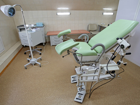 gynaecologist: Interior of a gynaecologist consulting room