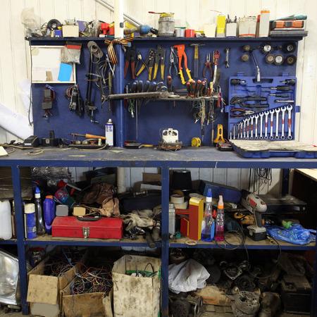 garage: Image of a repair garage Stock Photo