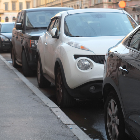 congested: image of a vehicles parked in parking lot