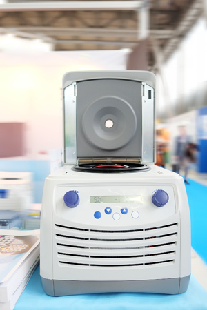 centrifuge: Closeup table medical centrifuge