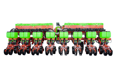 agricultural implements: image of agricultural machine under the white background