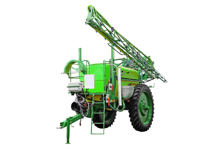 farm implements: image of agricultural machine under the white background