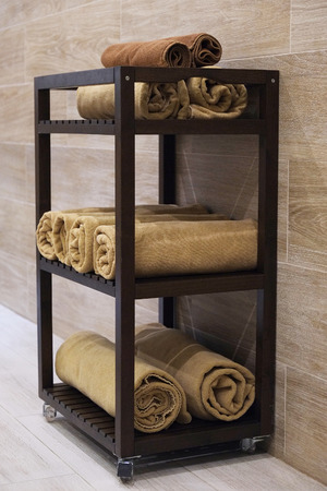 beauty parlor: Cabinet with towel s beauty salon