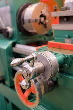 automated tooling: image of a lathe Stock Photo
