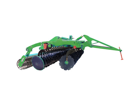 plough machine: image of plow under the white background Stock Photo