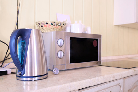 electric kettle: Microwave and electric kettle