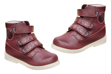 velcro: The image of a childrens shoes Stock Photo