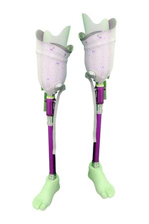 prosthetic: prosthetic leg on the white background