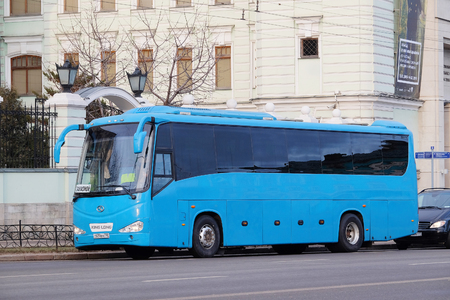 tourism in russia: Moscow, Russia, December, 30, 2015: Tourist bus in Moscow, Russia Editorial